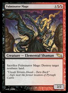 1x Fulminator Mage ** SIGNED **ShadowmoorMTG Magic Cards