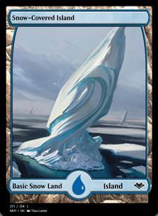 1x Snow-Covered Island MTG Modern Horizons NM Magic Regular